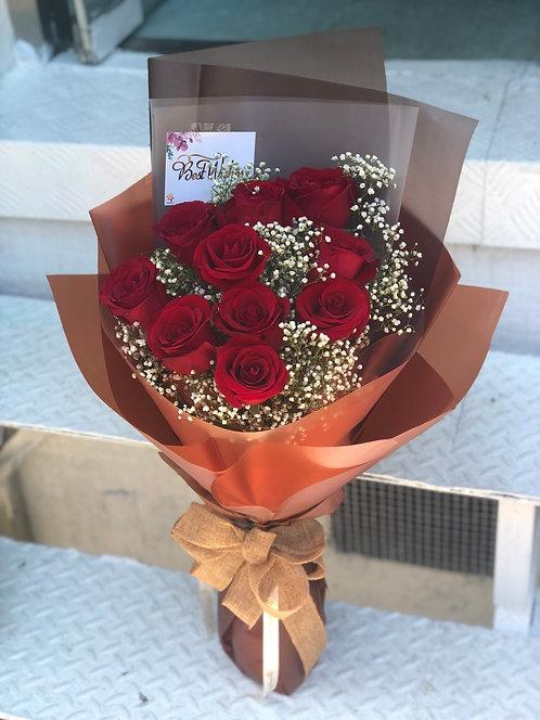 Red Rose Bouquet 紅玫瑰花束 RE10BO