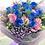 Thumbnail: 情人節10支藍玫瑰桔花束 10 Blue Roses Bouquet VDBU10PUB-PK