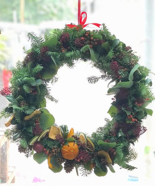 【必須預訂】聖誕花圈 Christmas wreath CW-01