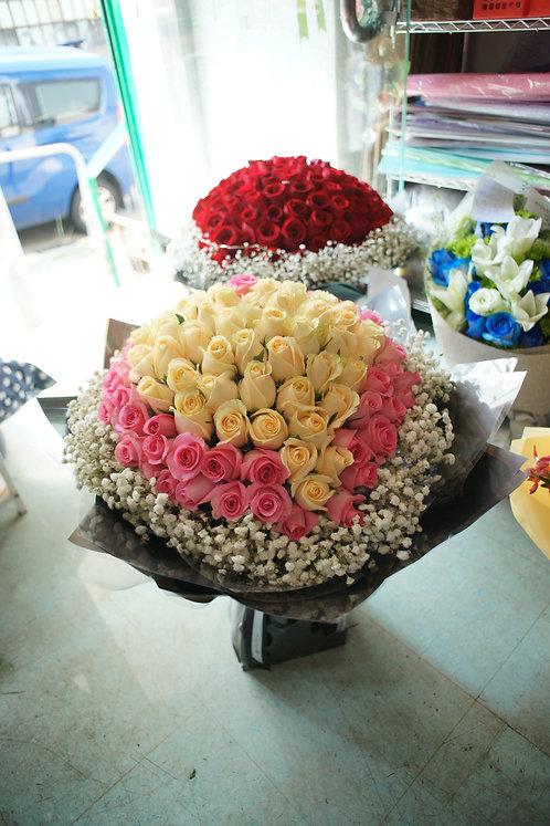 99/108 心形玫瑰花束 Heart Shape Rose Bouquet HTCPPK-GLBK99B