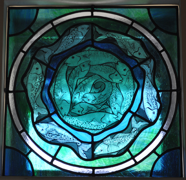 Fish Stained Glass