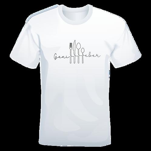 held&herd T-Shirt für Herren - Genießer (weiß)