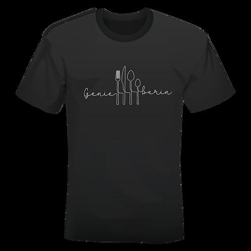 held&herd T-Shirt für Damen - Genießerin (schwarz)