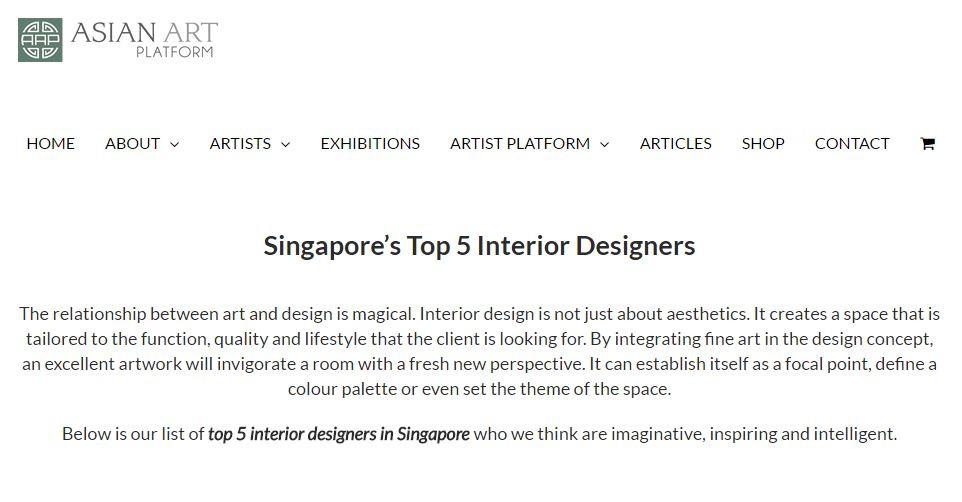 Mr Shopper Studio, Top 5 Interior Designer in Singapore