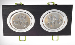 Black Double Downlight