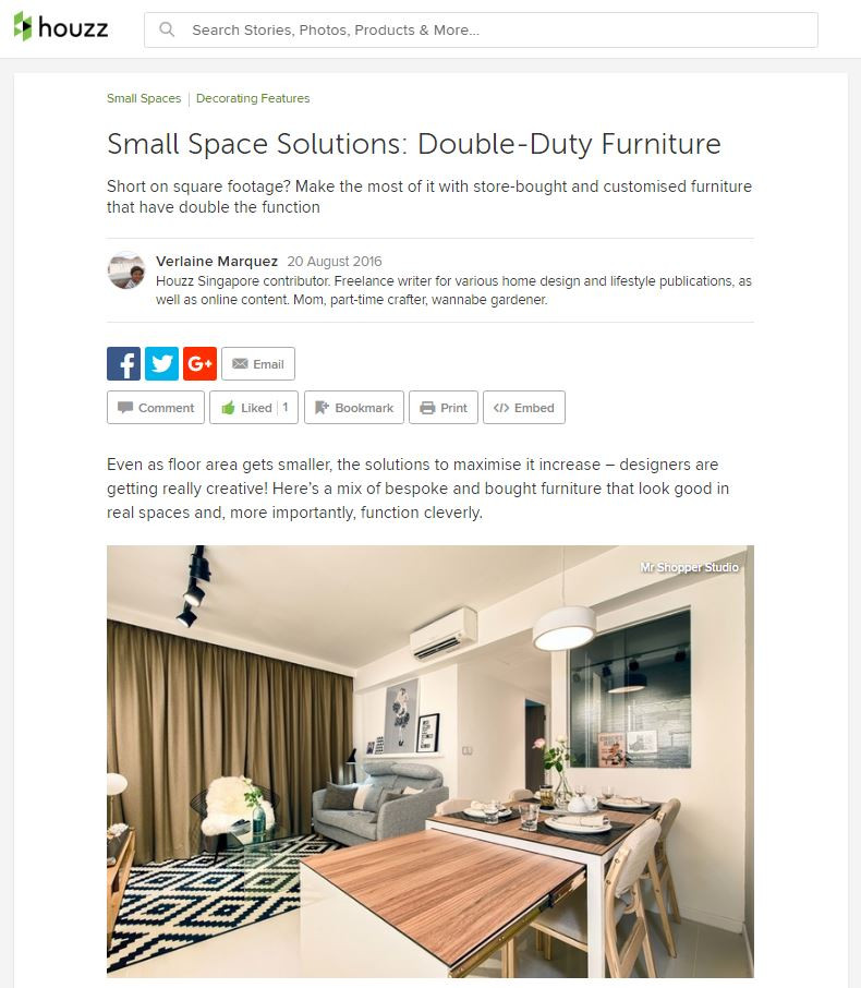 Mr Shopper Studio Houzz Small Space Solutions