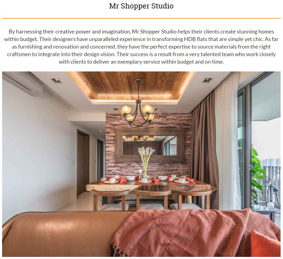 Mr Shopper Studio, Top 5 Interior Designer in Singapore by Asian Art