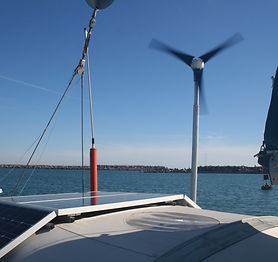 Our solar array and wind generator, crea