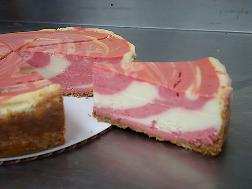 "9"" Strawberry Swirl Cheesecake"