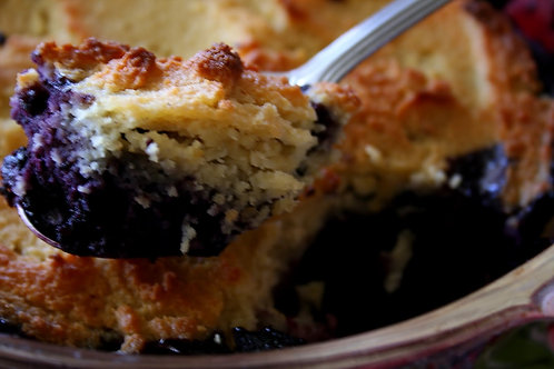 Half Pan 'hold the phone' 4-Berry Cobbler