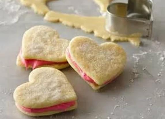 Valentines Day Shortbread Cookies