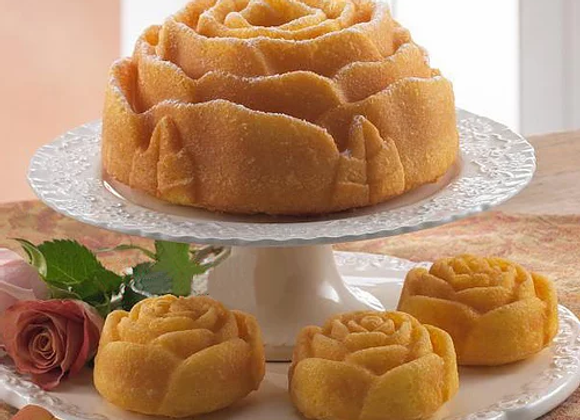 Butter Rum Rose Bundt Cake
