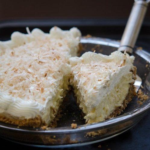 "9"" Deep Dish Coconut Cream Pie"