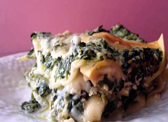 Triple Layer Spinach Lasagna