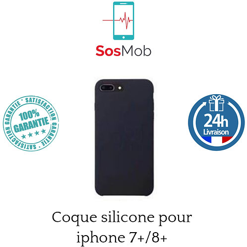 Coque silicone iphone 7 plus/8 plus - noir