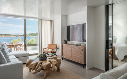 Nafsika Sea View 1 Bedroom Suite Living.