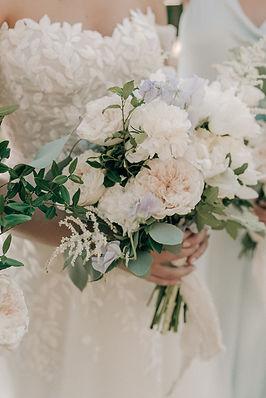 Bridal bouquet organic garden flowers