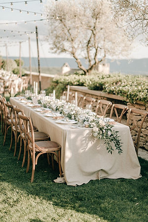 Bridal table outdoor wedding provence organic luxury