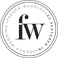 Badge featured in French Wedding Style