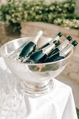 Champagne bottles wedding collet bastide de gordes