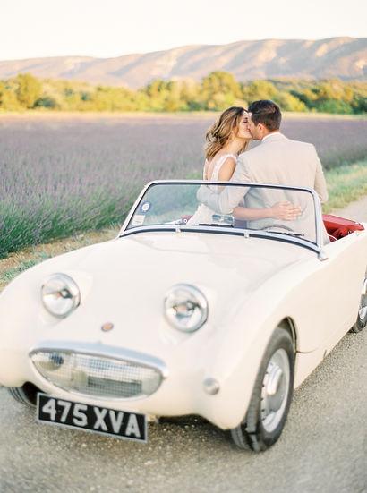 bride groom elopement provence classic car lavender fields amelia soegijono photography fine art