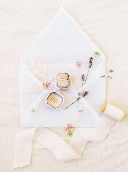 flat lay amelia soegijono engagement ring