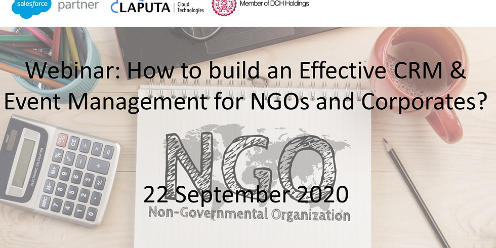 How to build an Effective CRM & Event Management for NGOs and Corporates? (1)