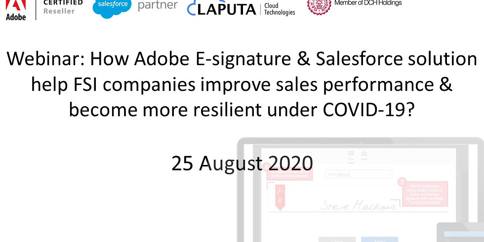 Webinar: How Adobe E-signature & Salesforce Automation help FSI companies improve sales performance & be more resilient?