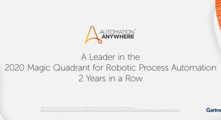 Automation Anywhere Named a 2020 Gartner Magic Quadrant Leader for RPA