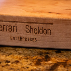 Our high-end cutting board was produced by Ferrari Sheldon Enterprises, the first name in quality kitchen tools.