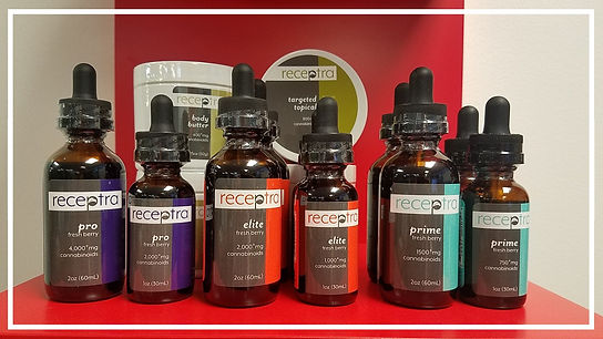 Receptra CBD oil and topical