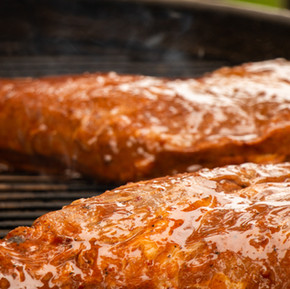 Tri-tip steak on Weber.
