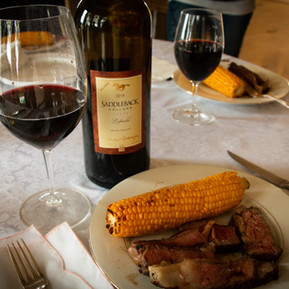 Saddleback Zinfandel to go with delicious steak and corn.