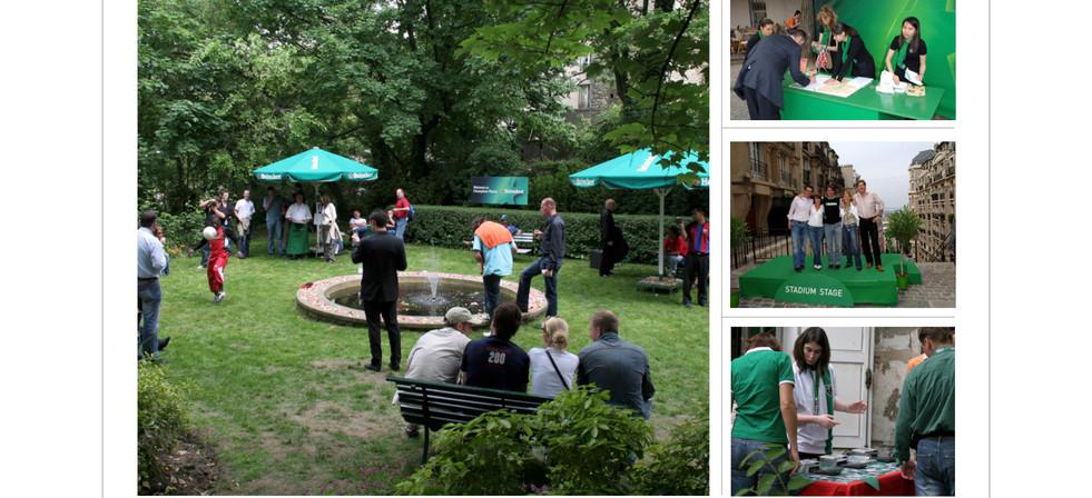 Garden of Montmartre and photo workshop