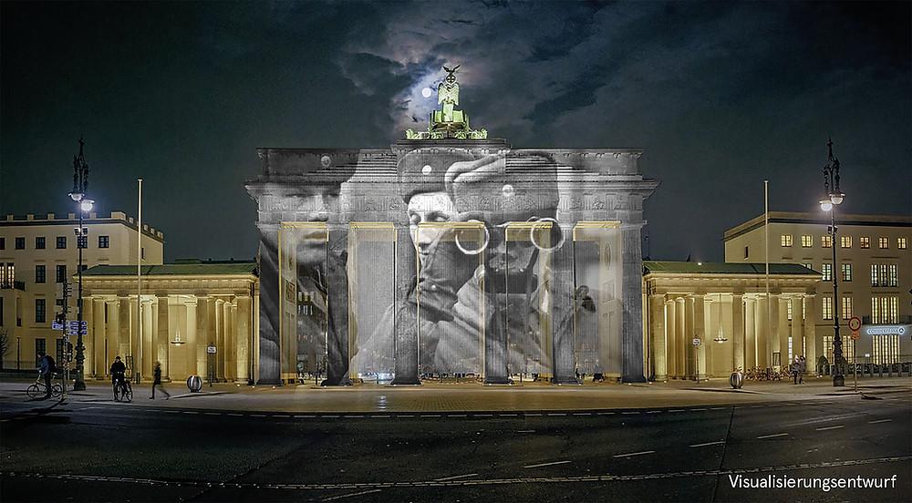 Projection on Brandenburg Gate