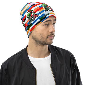 all-over-print-beanie-white-right-front-