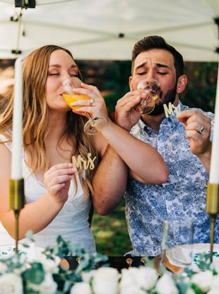 Intimate Backyard Wedding in Anaheim Hills by Lana Tavares