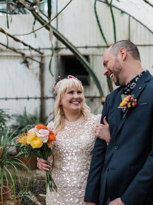 Kerry + Brian, Intimate Wedding Ceremony at Moorten Botanical Gardens, Palm Springs