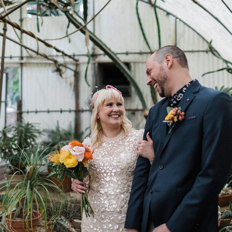 Kerry + Brian, Intimate Wedding Ceremony at Moorten Botanical Gardens, Palm Springs