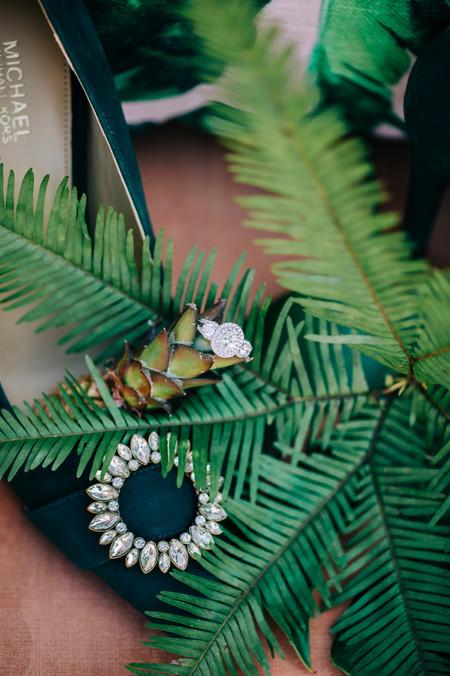 tropical themed wedding decor, vibrant r