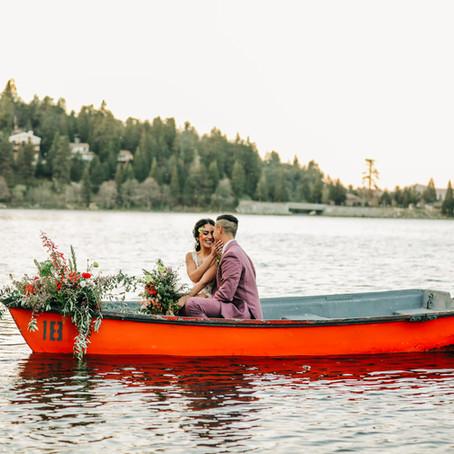 Andrea + Elliott, Lake Arrowhead Elopement