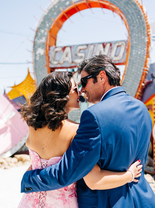 Christine + Ben, Vow Renewal at the Neon Museum, Las Vegas, Nevada--by Lana Tavares, 222 Photography