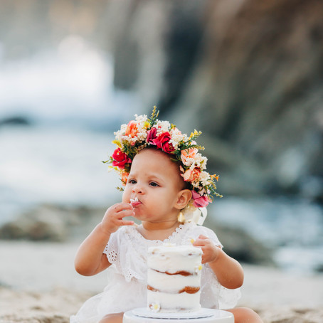 Cake by the Ocean--Baby Grace's Smash Cake Session by Lana Tavares, 222 Photography