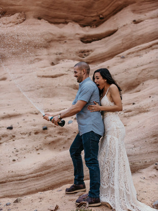 Red Rock Canyon Adventure Engagement Session