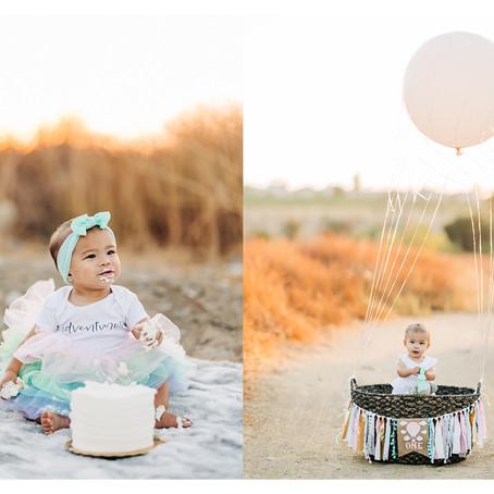 Elliana's Sunset Smash Cake Session, Orange County Family Portraits by Lana Tavares, 222 Photography