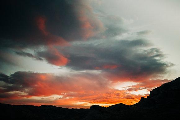 """Red Skies."" Cantil, CA"