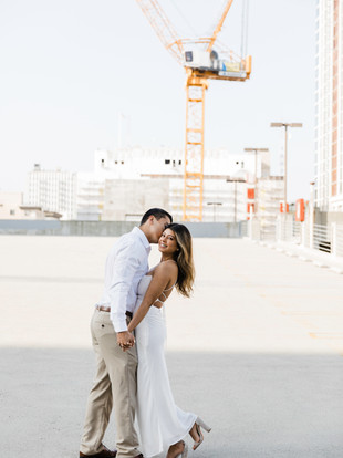 Andrea + Andrew, DTLA Rooftop Engagement Session