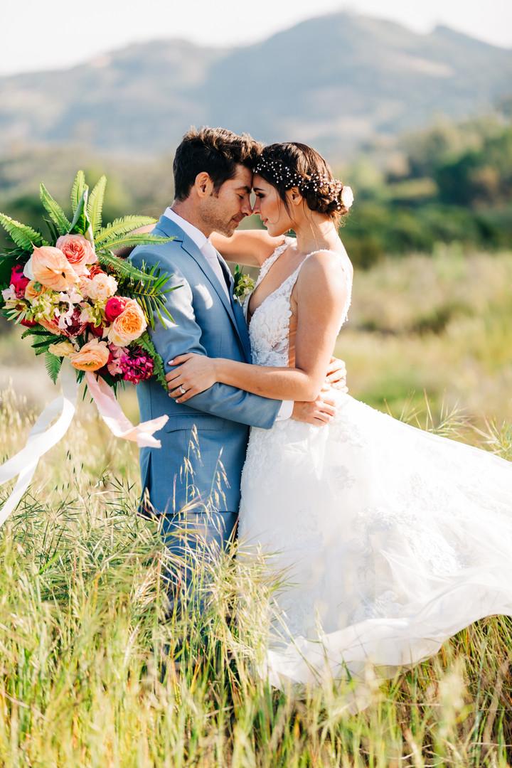 tropical themed temecula wedding portrai