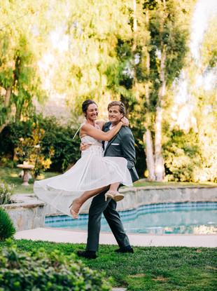 Sam + John, Intimate Backyard Wedding in Agoura Hills, California, by Lana Tavares