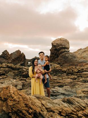The Yuan Family's Portraits at the Beach, by Orange County Family Photographer, Lana Tavares